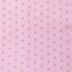 画像1: 麻の葉柄(ピンク)